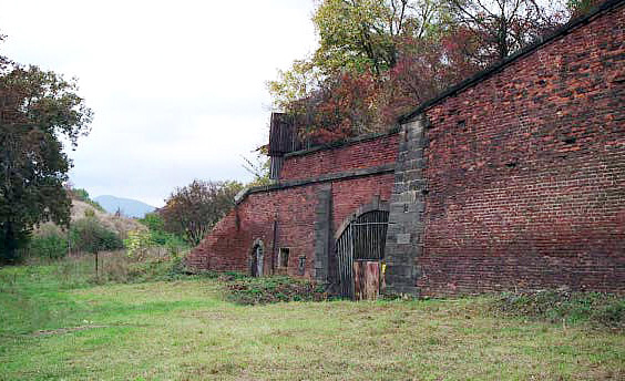 Sudenten Barracks were inside the wall of the old Theresienstadt fort