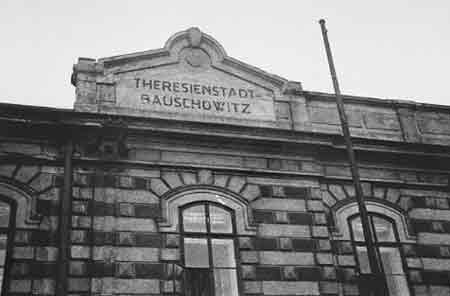 The train station for Theresienstadt was at Bauschowitz