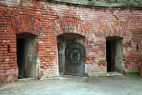 Entrance into the tunnel at the Small Fortress