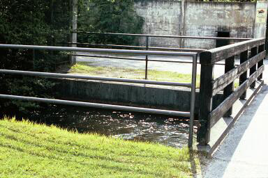 Wall in front of the moat was built after Dachau was liberated