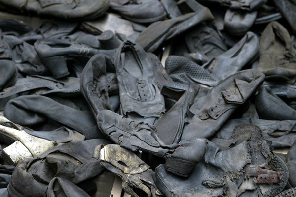 Display of shoes at the United States Holocaust Memorial Museum Photo credit  Paul Hosefros/The New York Times