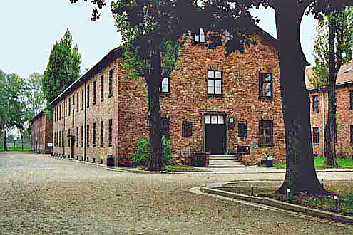Block 15 (barracks building) at Auschwitz main camp