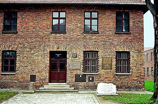 My 1998 photo of Block 27 in the main Auschwitz camp