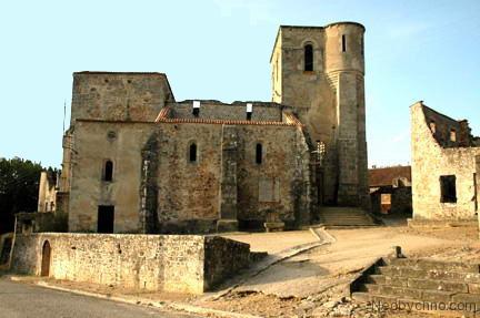 Ruins of the church in Oradour-sur-Glane