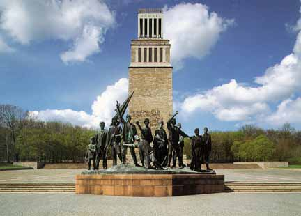 Monument in honor of the Resistance Fighters who were prisoners at Buchenwald