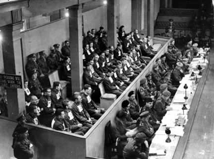 The defendants in the Belsen Trial