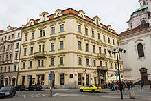 Franz Kafka was born in this building in Prague Photo Credit: Wikipedia
