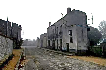 The photos of the road into Oradour-sur-Glane were very dark on the show World at War