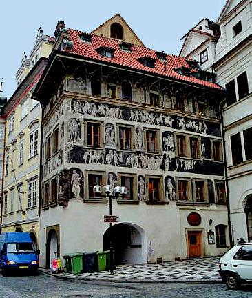 House where Franz Kafka lived in Prague