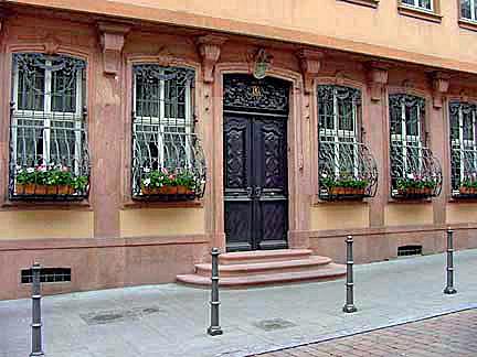 Front door of the Goethe house