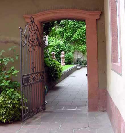 Garden at the Goethe house in Frankfurt