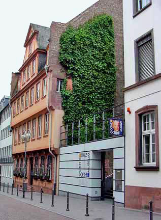 The house where Goethe was born has been restored and is now a Museum