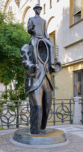 Statue of Franz Kafka in Prague