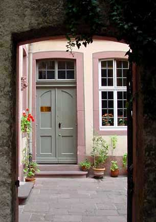 Entrance to the Goethe house, for tourists, is through the kitchen door