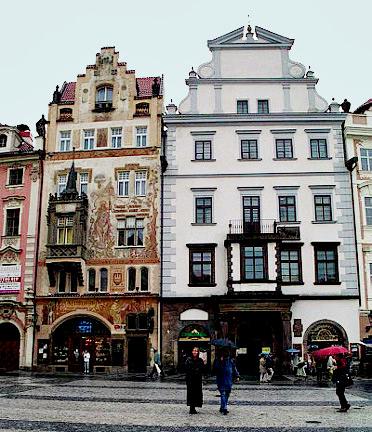 House where Einstein played the violin for Franz Kafka