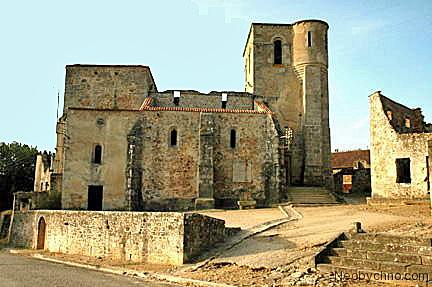 The ruined church at Oradour-sur-Glane