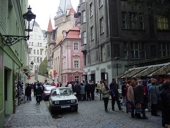 Tourists flock to this street in Prague