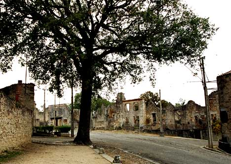 Ruins on the road into Oradour-sur-Glane