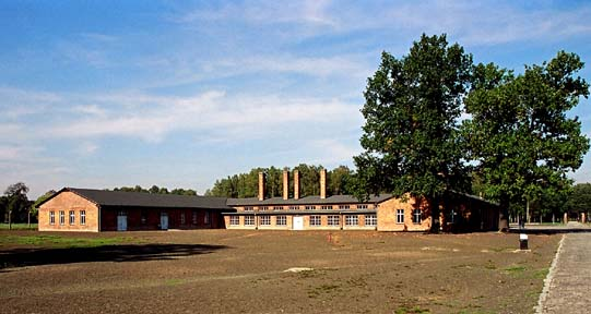 The Central Sauna building at Auschwitz-Birkenau