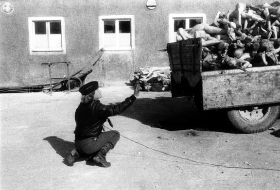 Margaret Bourke-White arrived at Buchenwald on April 15, 1945