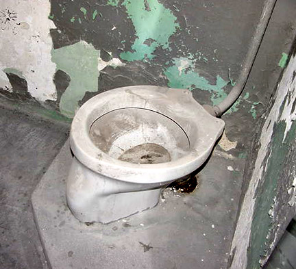 The toilets at Dachau had no seat