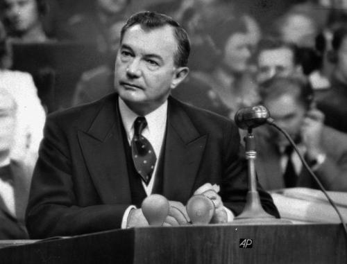 Robert H. Jackson, chief US prosecutor at Nuremberg, during his closing address to the Tribunal.