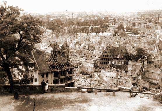 View of the bomb damage of Nürnberg from the castle hill Photo Credit: Charles J. Sheridan