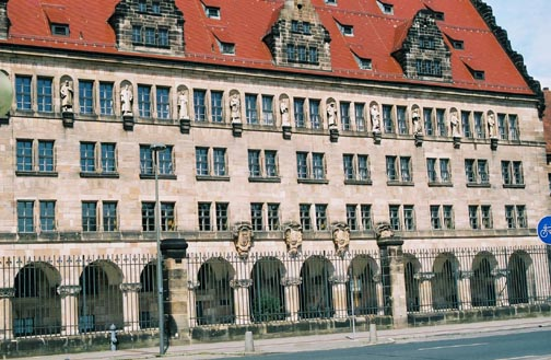 The Palace of Justice (Justizgebäude) at Fürtherstrasse 22, where the trial took place