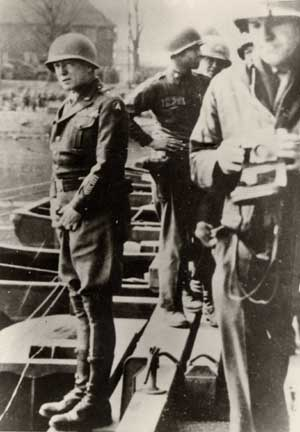 General Patton urinated into the Rhine river when he crosses it