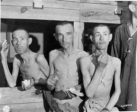 Sick prisoners at Ebensee sub-camp of Mauthausen