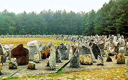 The ashes of 870, 000 Jews are covered by a symbolic cemetery
