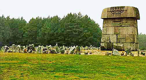 Monument at Treblinka stands in the spot where a gas chamber was located