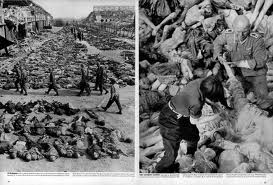 Two photos inside the May 7, 1945 edition of Life magazine