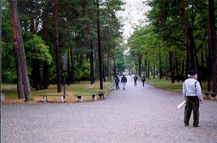Entrance road at Sachsenhausen Memorial Site in 2002