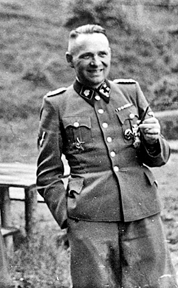 Rudolf Hoess, photographed at the Auschwitz camp