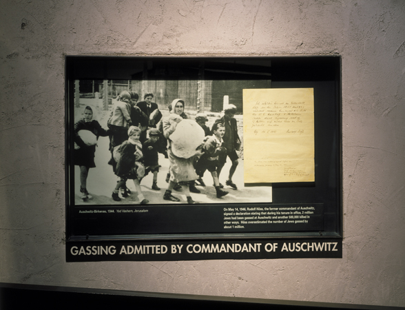 The Confession of Rudolf Hoess is displayed at the US Holocaust Memorial Museum in Washington, DC