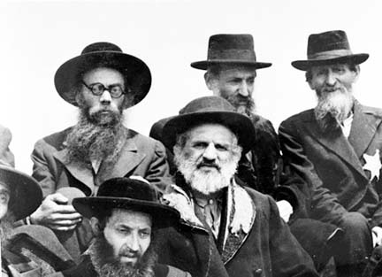 Hungarian Jews, photographed at Auschwitz