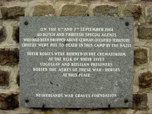 Plaque at Mauthausen Memorial Site in honor of British commandos