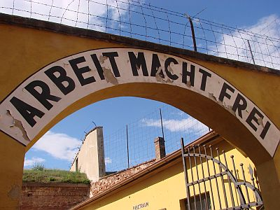Sign over the Small Fortress at Theresienstadt
