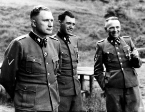 Richard Baer, Josef Mengele and Rudolf Hoess