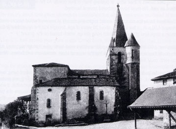 Oradour-sur-Glane church as it looked before the fire