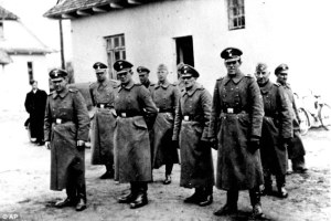 German officers at the Belzec death camp