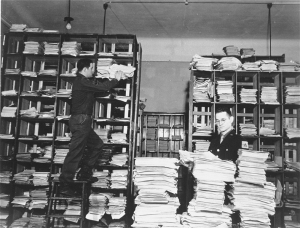 Nazi records found after World War II were used at the Nuremberg IMT