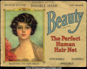 Advertisement for human hair nets