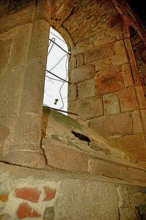 The wall underneath the window where Madame Rouffanche climbed