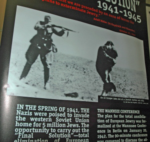 Photo in the traveling exhibit has been cropped