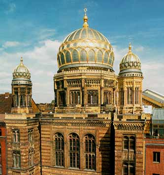 The Berlin Synagogue was restored after it was destroyed on Kristallnacht