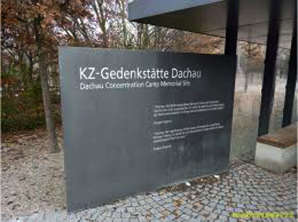 Dachau ntrance sign put up in 2009