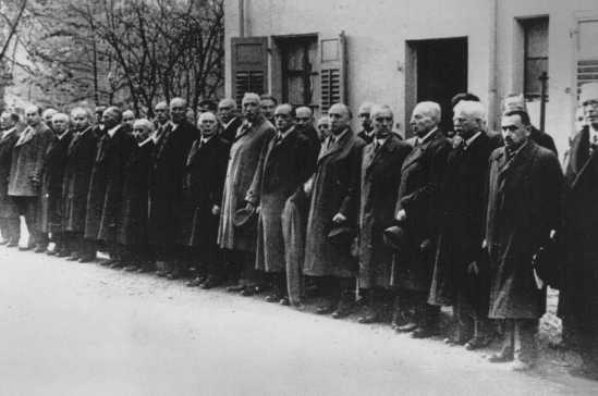 Jewish men were arrested after Kristallnacht and sent to Dachau and other camps