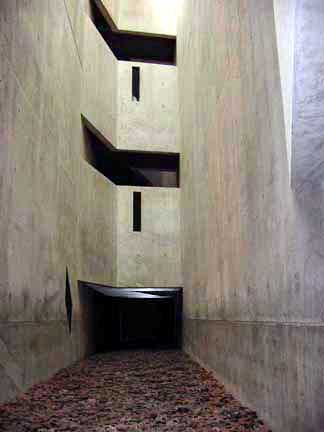 "The ""Memory Void"" tower in the Jewish Museum"
